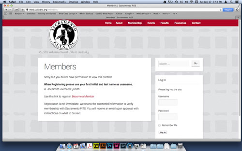 A section of the site available only to members.