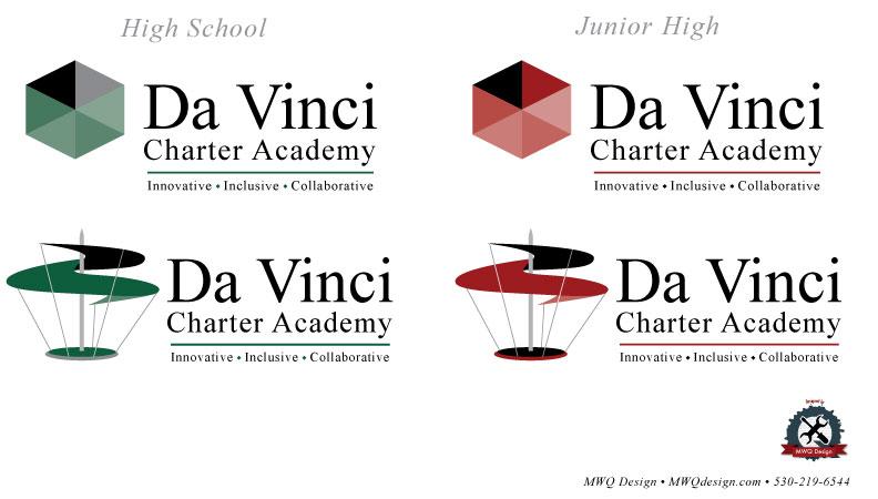 da vinci high logo web design print design davis